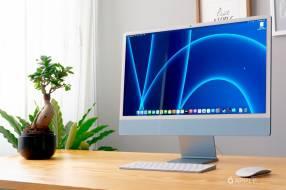 Apple iMac MGPK3LL/A M1 8gb 256gb 24 pulgadas blue 2021 con touch id