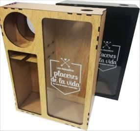 Caja para corcho y vino
