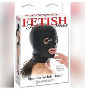 Fetish Spandex 3 Hole Hood
