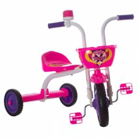 Triciclo top girl ultra bikes blanco rosa
