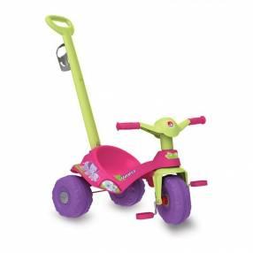 Triciclo mototico paseo y pedal rosa