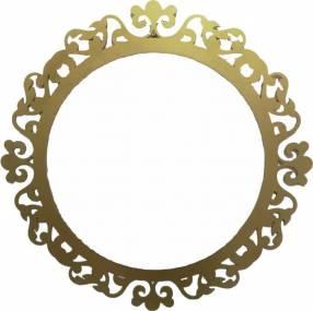 Espejo con marco vintage 57 cm de diámetro