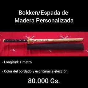 Bokken personalizada con funda