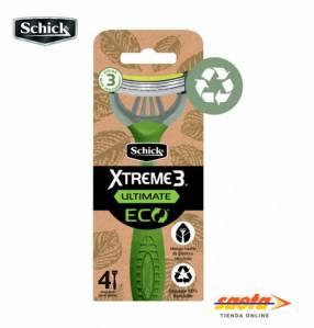 Maquina de afeitar Schick Xtreme 3 Ultimate Eco D X 4 unidades