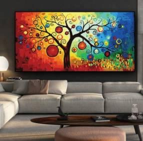 Poster árbol de la vida colorido