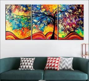 Poster triplo árbol de la vida