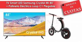 "TV Smart LED Samsung Crystal 85"" 4K UHD + Patineta Eléctrica"