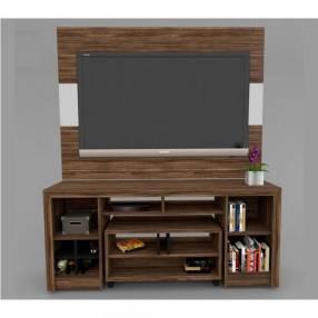 Combo Natal panel + rack + mesa centro c/ ruedas TV 55″ (2812)