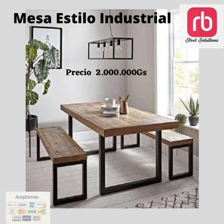 Mesa estilo industrial - 0