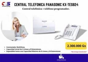 Central telefónica Panasonic KX-TES824 teléfono programador