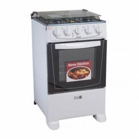 Cocina a gas jam mod. Combi 4h con horno electrico blanco (60015)