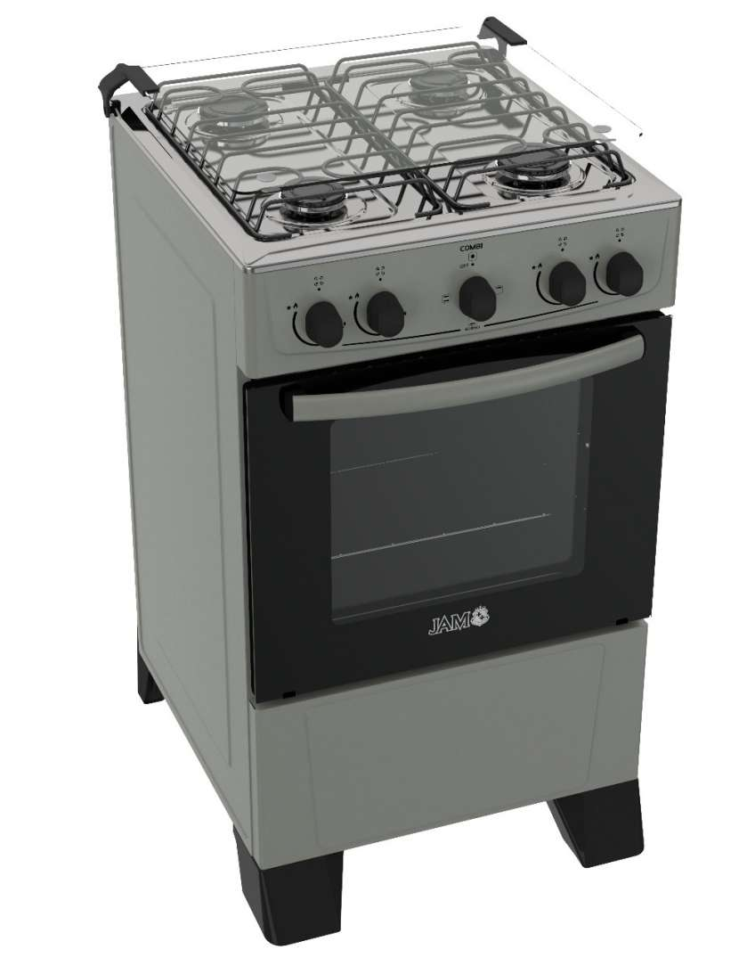 Cocina a gas jam mod combi titanio gris 4h (60014) - 0