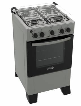 Cocina a gas jam mod luxus titanium gris 4 h (60017)