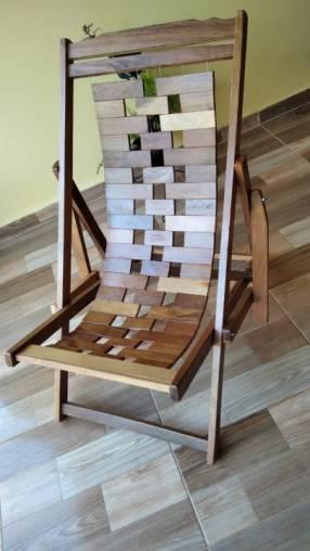 Sillón reposera de madera de lapacho
