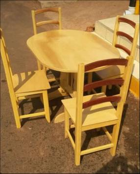 Juego de comedor económico madera Guatambu