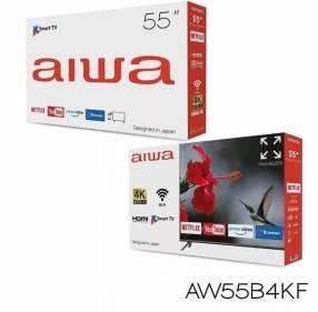Smart TV Aiwa de 55 pulgadas más un soporte de regalo