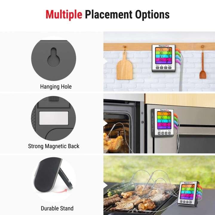 ThermoPro TP17H Termómetro digital de cocina 4 sondas - 2