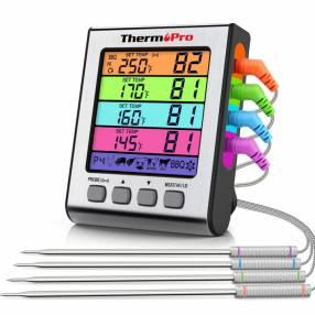 ThermoPro TP17H Termómetro digital de cocina 4 sondas