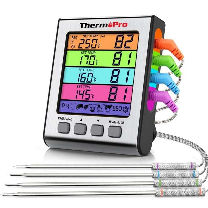 ThermoPro TP17H Termómetro digital de cocina 4 sondas - 0