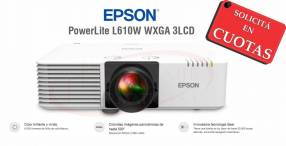 Proyector Epson PowerLite L610W 6000 lúmenes