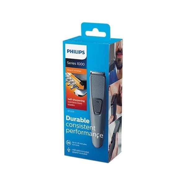 Barbeador Philips Beardtrimmer Series 1000 BT1209 gris - 0