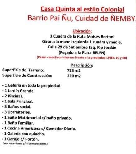 Casa quinta en Ñemby Pa'i Ñu - 4