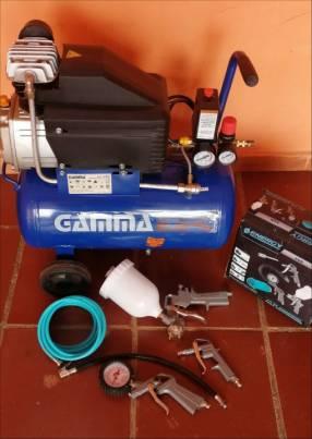 Compresor de 25 litros Gamma con accesorios