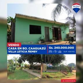 Casa en Ñemby Barrio Caaguazú Villa Leticia