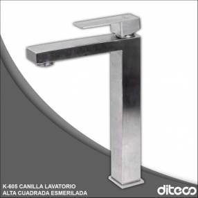 KBKB canilla lavatorio alto cuadrada esmerilada