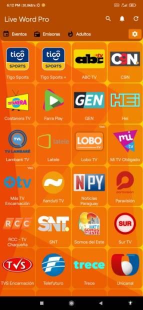 Cargamos 320 canales de cable para TV Box celular o tablet