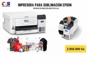 Impresora Epson Surecolor f170 para sublimación