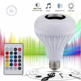 Foco LED con parlante a bluetooth