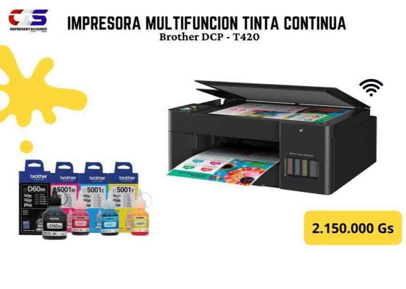Impresora Brother multifunción tinta continua con wifi - 0