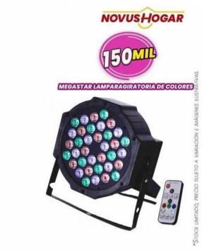 Lámpara giratoria de colores Mega Star