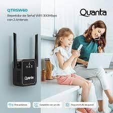 Repetidor wifi Quanta QTRSW60 2 antenas 300mbps