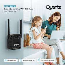 Repetidor wifi Quanta QTRSW60 2 antenas 300mbps - 0