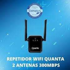 Repetidor wifi Quanta QTRSW60 2 antenas 300mbps - 1