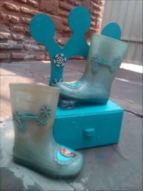 Botitas de lluvia Frozen con joyero