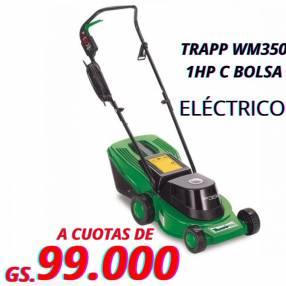 Cortacésped eléctrico Trapp 1hp con bolsa wm350