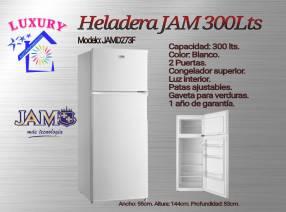 Heladera JAM 300 litros de 2 puertas
