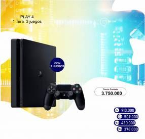 PS4 de 1TB con 3 juegos