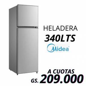 Heladera Midea de 340L 2 puertas blanco frío húmedo
