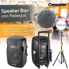 Parlante karaoke Consumer box 12 pulgadas con pedestal 1.000W