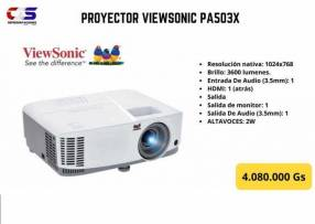 Proyector ViewSonic PA503X 3600 lúmenes XGA DLP