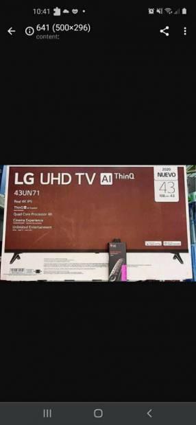 Smart tv 4k ultra HD LG 43 pulgadas