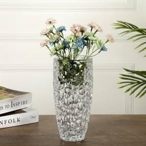 Florero de cristal tallado 15x35cm