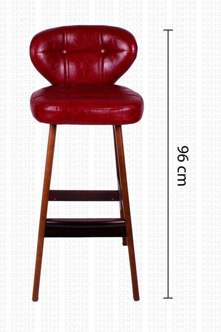Silla alta rojo 40x40x95cm - 0