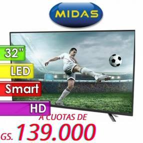 Smart TV LED de 32 pulgadas Midas MD-TVS32M HD
