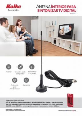 Antena para señal digital aire en LCD o LED Full HD