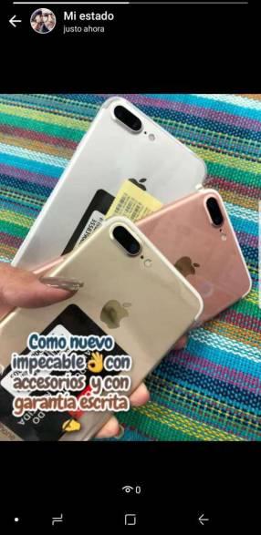 iPhone 7 Plus de 128 gb impecables